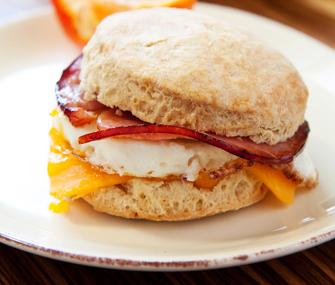 Biscuit breakfast sandwich
