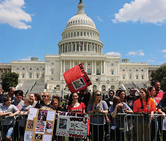 Participants in front of the Capitol at the One Million Pibble March in Washington, D.C.