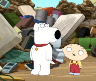 "Stewie brought his pal Brian back from the dead on Sunday's episode of ""Family Guy."""