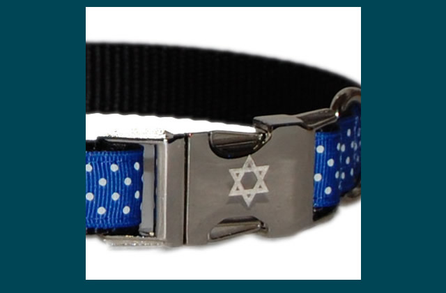 Star of David Buckle Collar