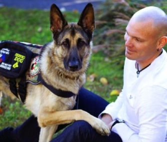 Axel was stopped from boarding a flight home the day after he was honored for his work as a service dog to Marine veteran Jason Haag.