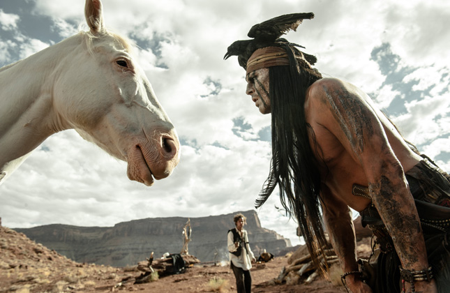 Silver and Tonto from the Lone Ranger