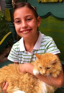 Girl and Seizure Cat