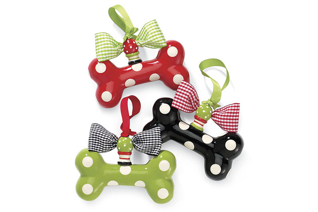 Polka Dot Bone Ornaments
