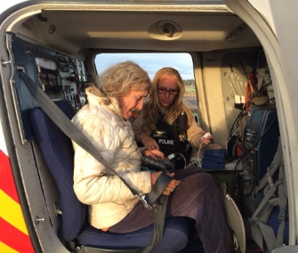 Ann Rodgers was airlifted to safety after she and her dog were found lost in Arizona desert.