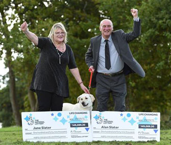 Dog helps couple win lottery