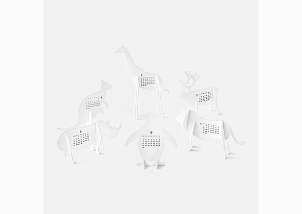 MOMA animal cutouts calendar 2014