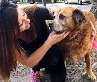 Chelsea Hagerty and her fiancée say they've been getting lots of affection from 14-year-old Bear.