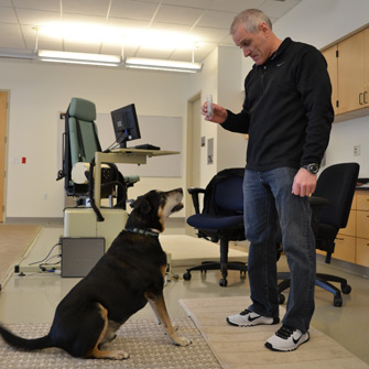 Frankie the cancer-sniffing dog and Ferrando