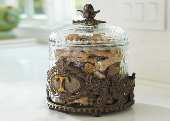 Personalized Decorative Baroque Pet Treat Jar