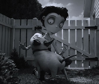 Tim Burton says his movie Frankenweenie was inspired by his own childhood dog.