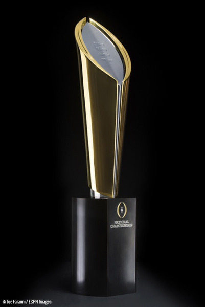 College Football Playoff Unveils National Championship Trophy Side