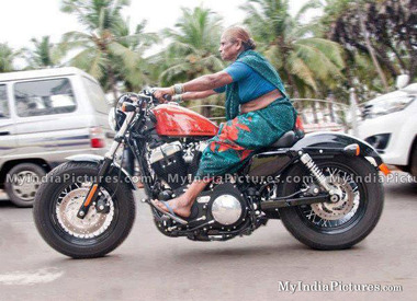 Grandma-riding-bike-dhoom-3-funny-india