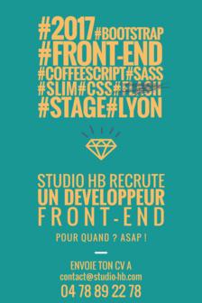 Offre de stage en développement front-end sur Lyon