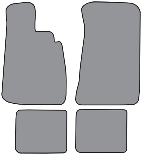 1966-1976 BMW 2002 Cutpile 4pc Factory Fit Floor Mats