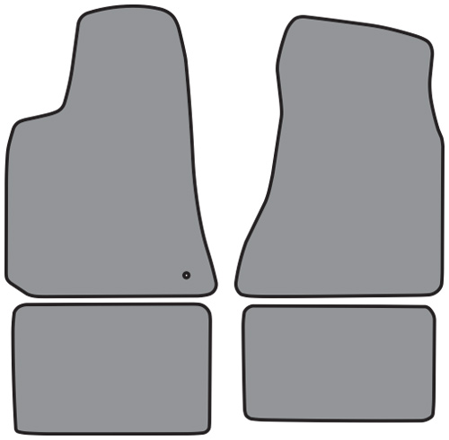 Dodge Intrepid Floor Mats: 2006-2009 Dodge Charger Cutpile 4pc Factory Fit Floor Mats