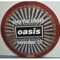 OASIS 2006 stop the clocks promotional BIG static cling sticker ~NEW~!