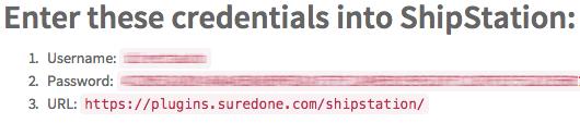 ShipStation Credentials