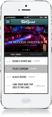 Tab Sprint App Screenshot