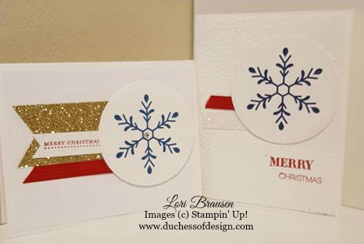 Snowflake Joy shows two quick and easy Christmas card ideas.