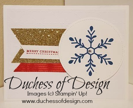 Snowflake Joy 2 is a quick and easy Christams card design.