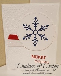 Snowflake Joy 1 is a quick and easy Christmas card idea.