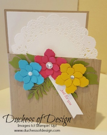 Bright Flowers for Spring is a feminine card idea for many occasions