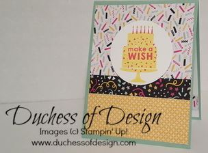 Party Wishes is a birthday card idea using a simplified One Sheet Wonder template