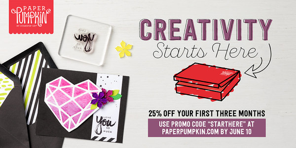 Creativity Starts here! Paper Pumpkin kits! Subscribe with Duchess of Design!