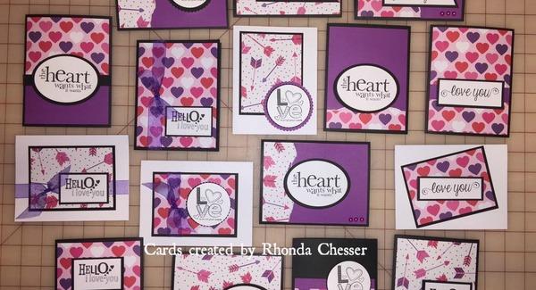 Pretty purple card ideas using a OSW template