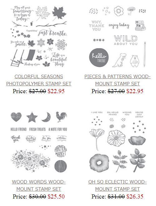 Stamp sets on sale - some of my favorite Stampin' Up! sets