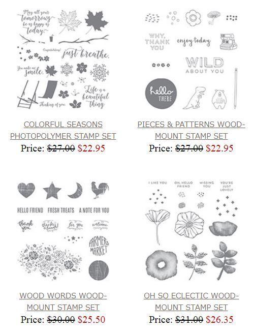 Stamp sets on sale - some of my favorite Stampin' Up! sets