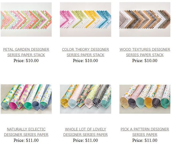 Pretty paper - Stampin' Up! Designer Series Paper sale