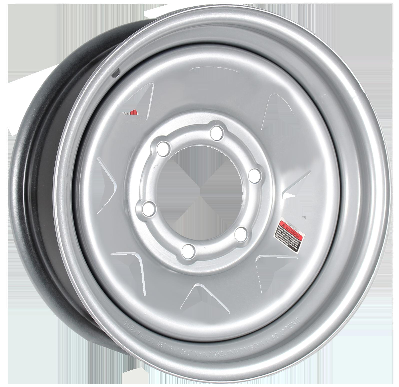 16x6 6-Lug Silver Spoke Steel Wheel Image