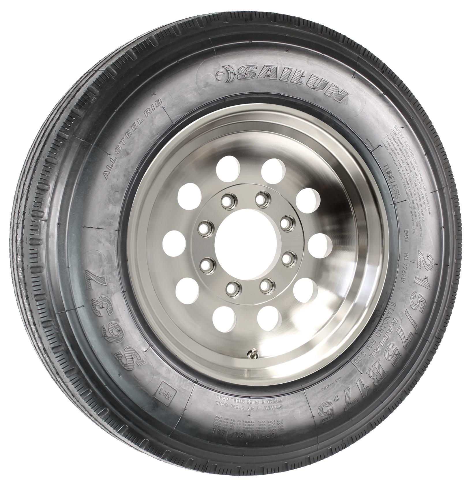 "Sailun 215/75R17.5 LRH Radial Tire on 17.5"" 8-Lug Aluminum Mod Assembly Image"