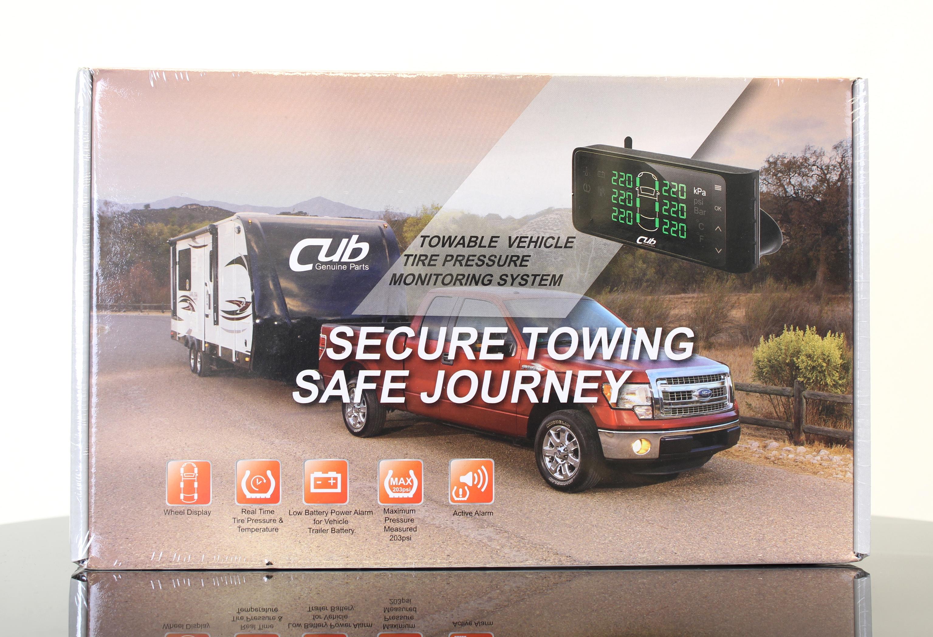 "Tire Pressure Monitoring System for 0.625"" Valve Fitment (Set of 4 sensors/valve) Image"