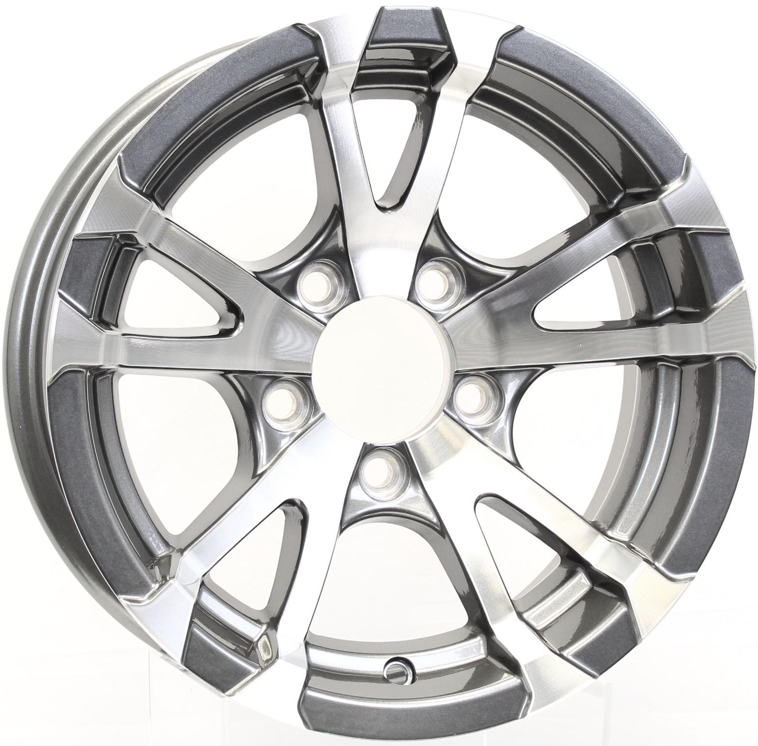 Avalanche- 13x5 5-4.5Gunmetal Aluminum Trailer Wheel Image
