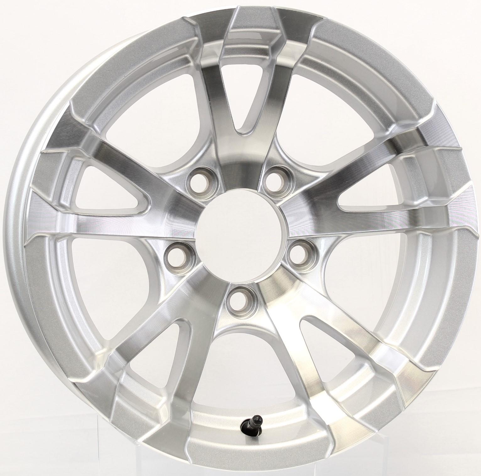Avalanche- 14x5 5-4.5Silver Aluminum Trailer Wheel Image