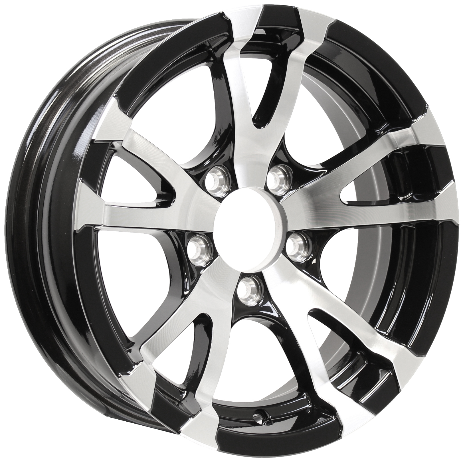 Avalanche 15x5 5-Lug Black Aluminum Trailer Wheel Image