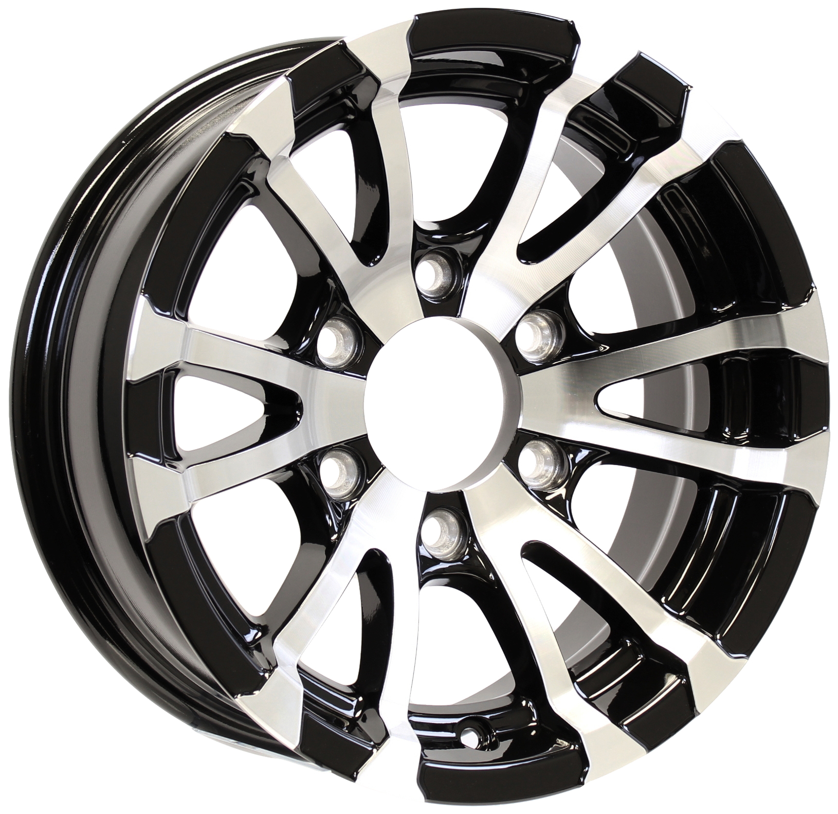 Avalanche- 15x6 6-Lug Black Aluminum Trailer Wheel Image