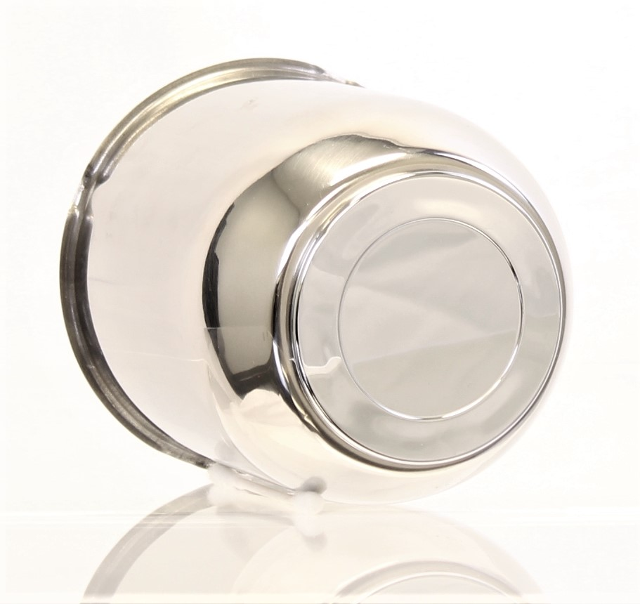 "4.25"" 4.25"" Stainless Steel Center Cap w/ ABS Chrome Plug Image"