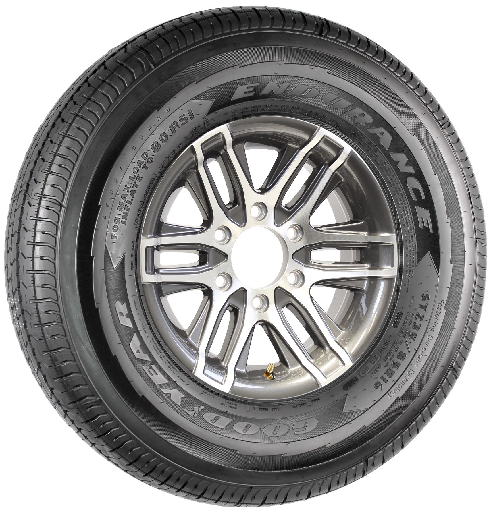 "Goodyear Endurance ST235/85R16 LRE on 16"" 6-5.5 Altitude Gun Metal Aluminum Wheel Image"