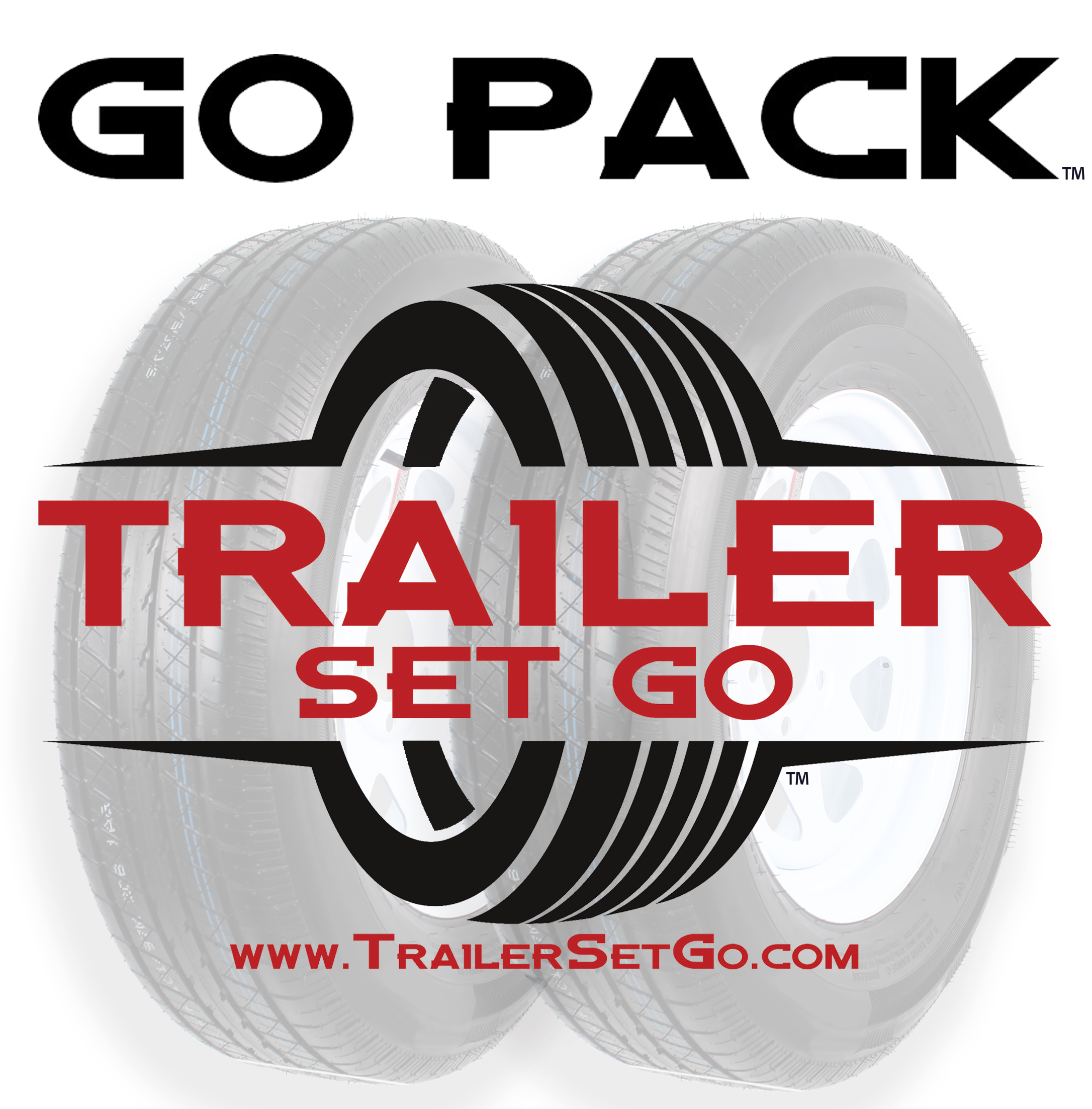 "Go Pack™ (2-Pack) ST205/75R14 on a 14"" 5-4.5 Steel Wheel Assembly Image"
