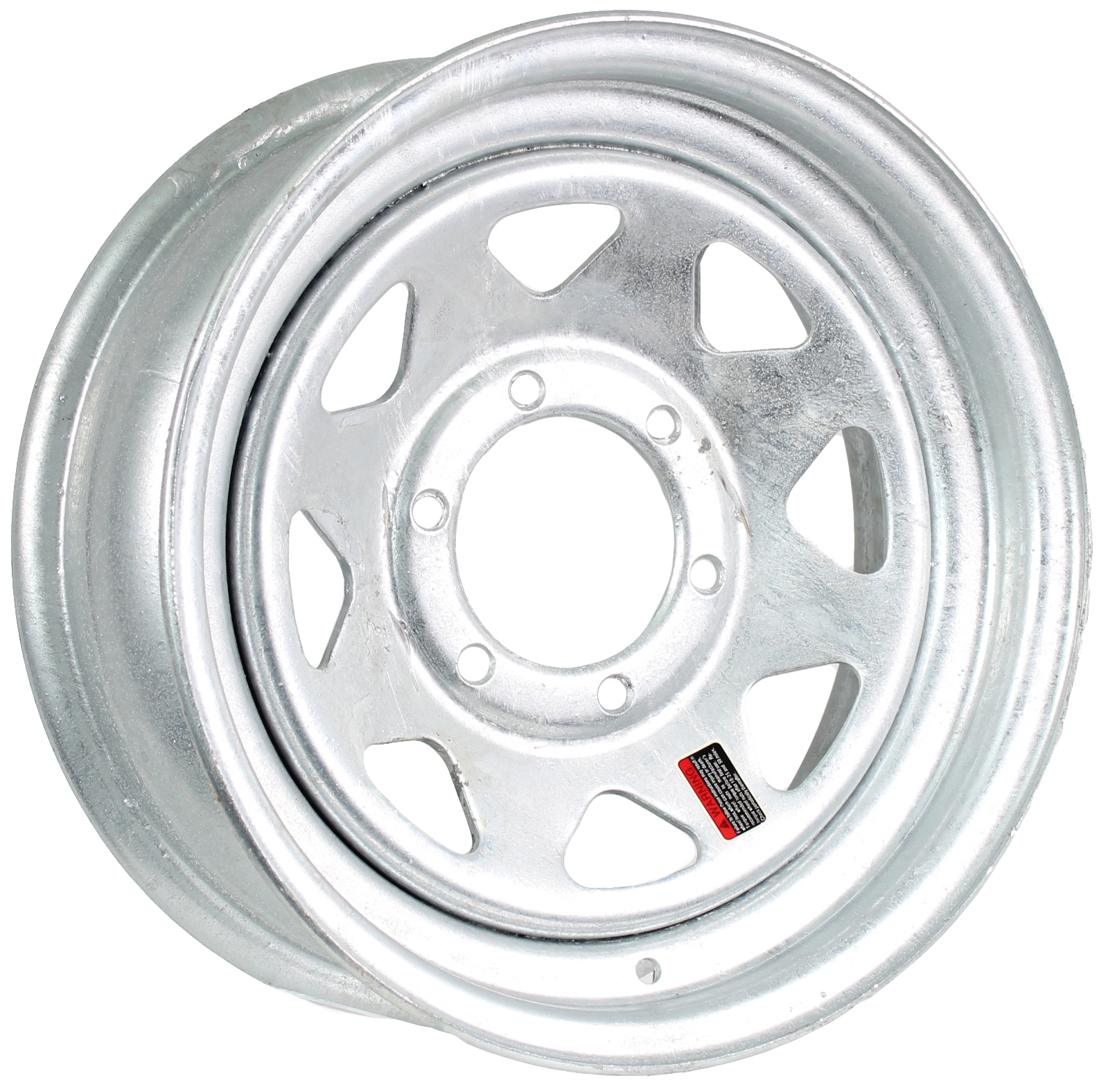 15x6 6-Lug Galvanized Steel Trailer Wheel Image