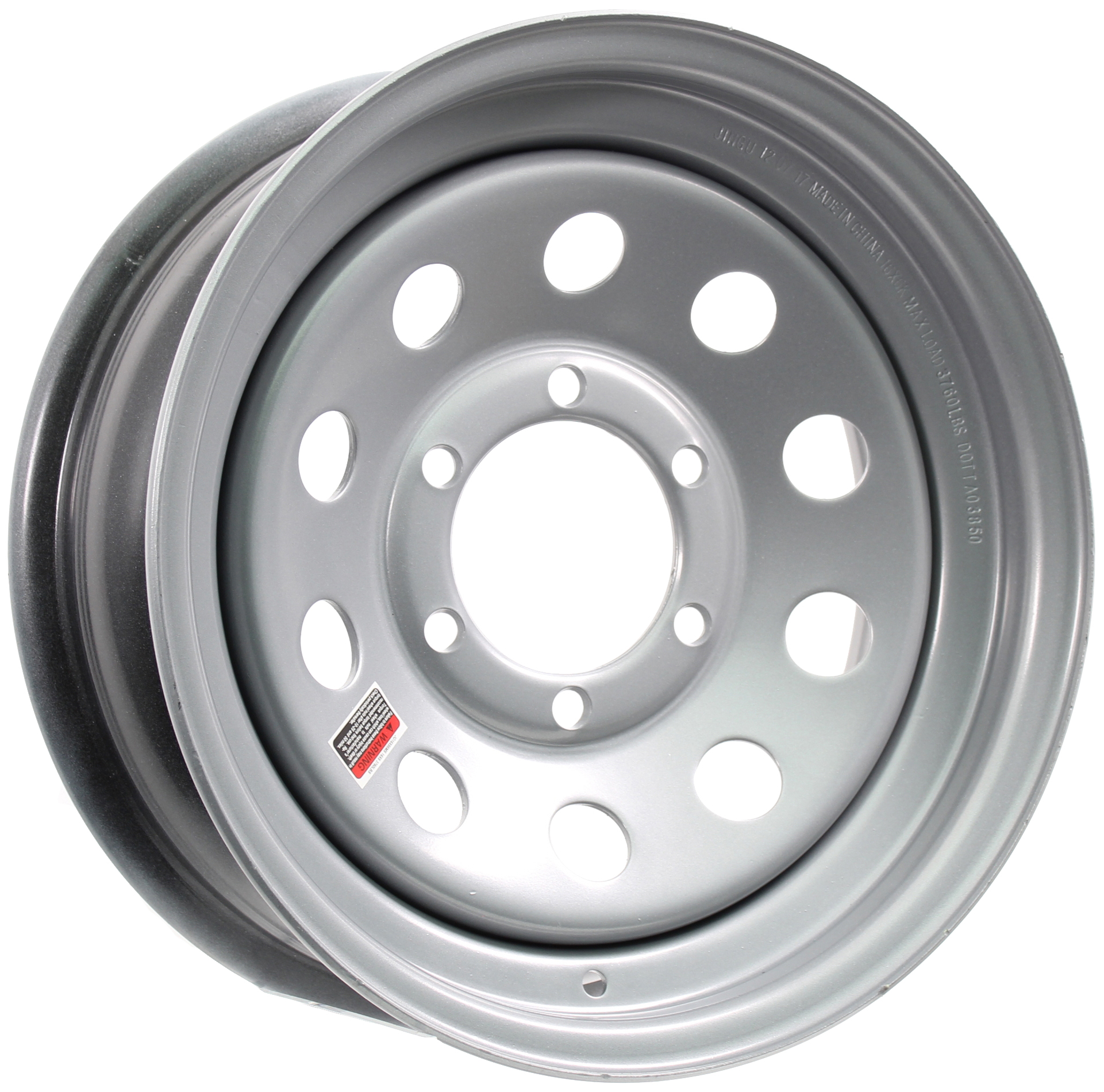 16x6 6-Lug Silver Mod Steel Trailer Wheel Image