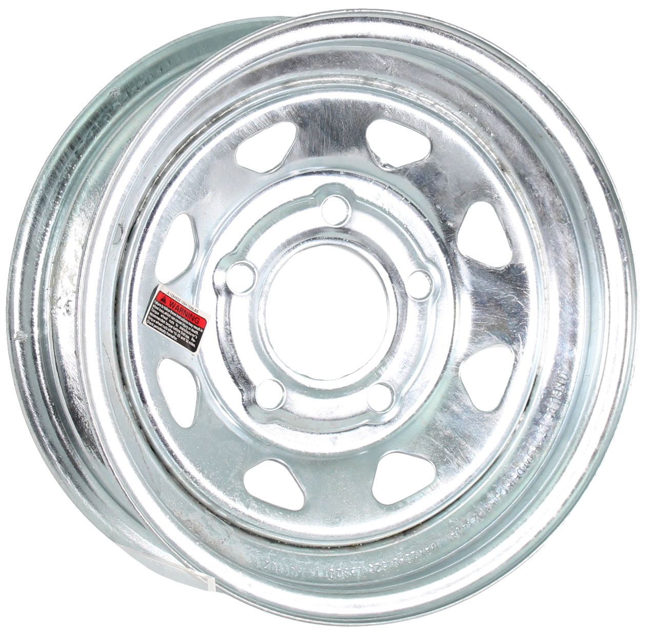 12x4 5-Lug Galvanized Spoke Steel Trailer Wheel Image