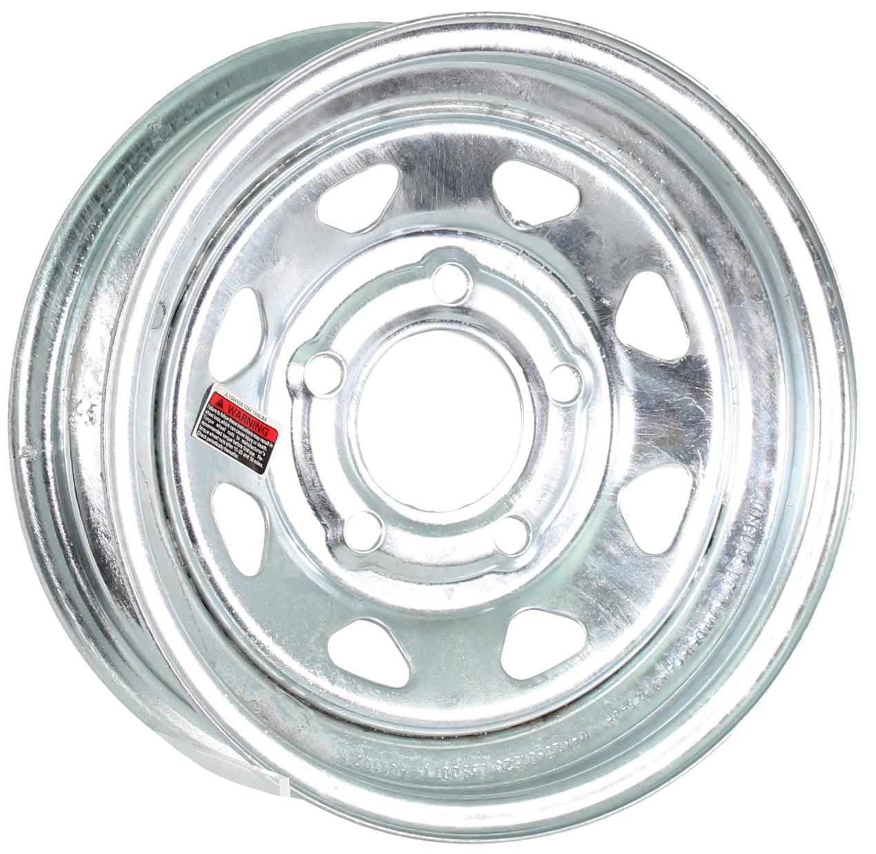 12x4 5-Lug Galvanized Spoke Steel Trailer Wheel Image
