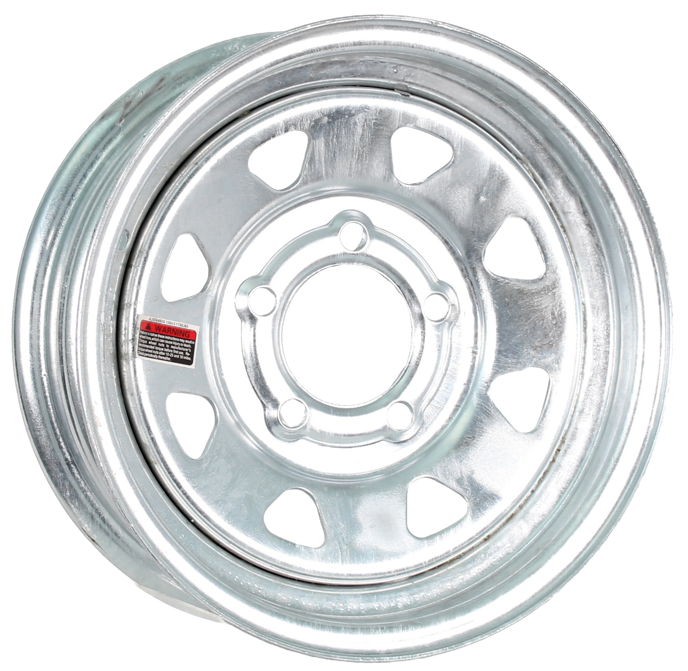 13x4.5 5-Lug Galvanized Spoke Steel Trailer Wheel Image