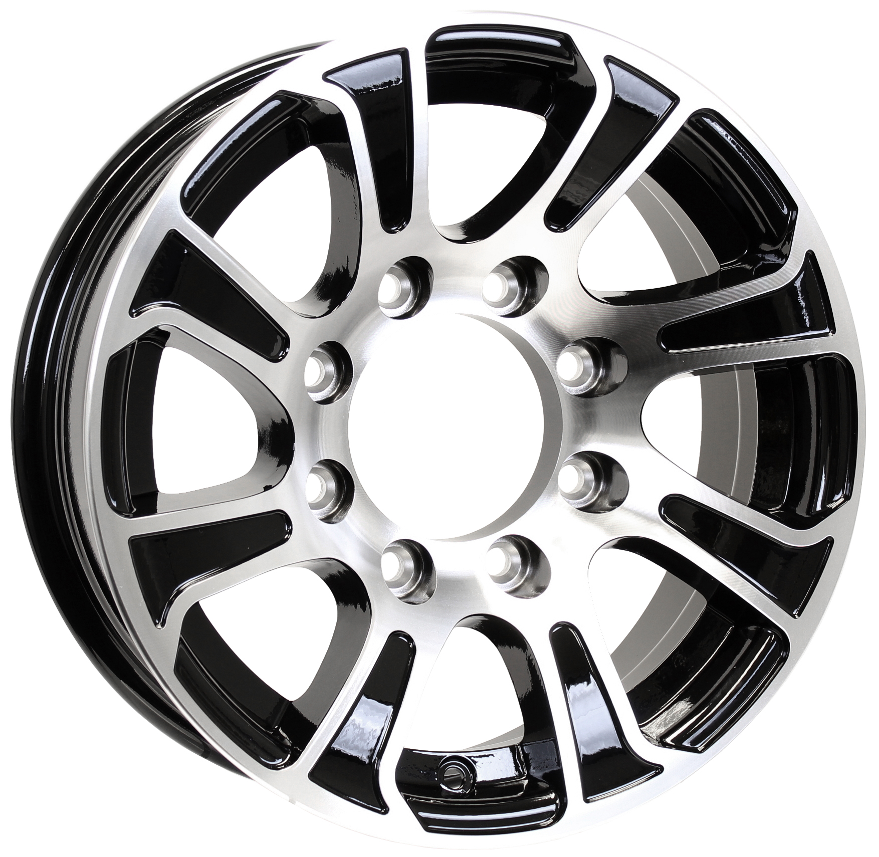 Summit 16x6; 8-Lug Black Aluminum Trailer Wheel Image