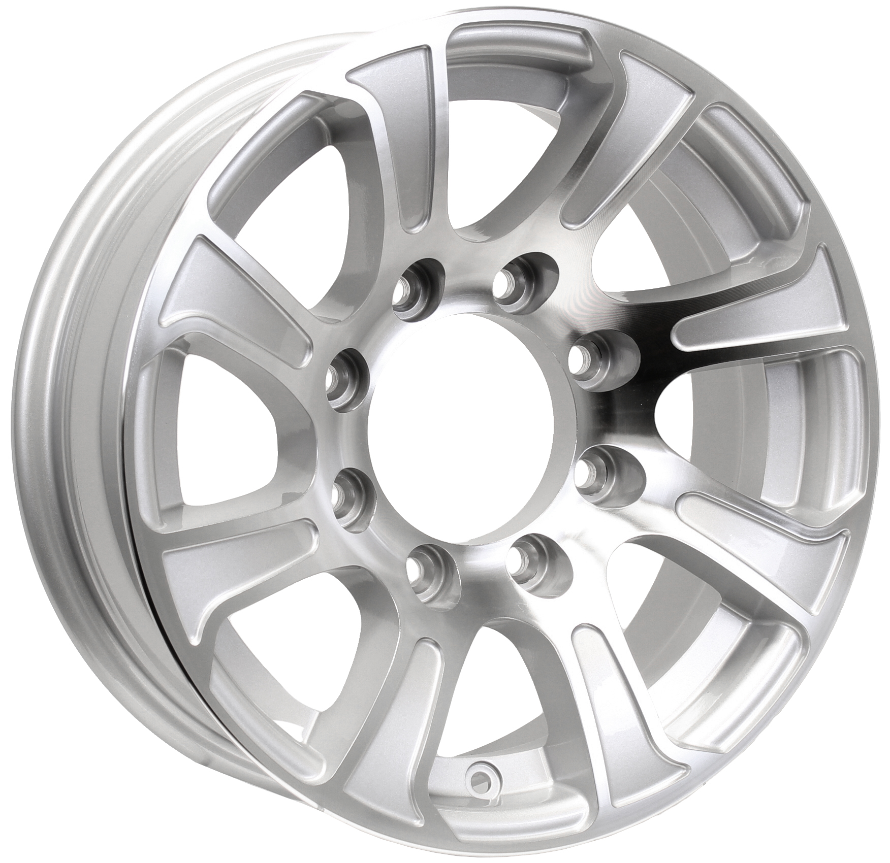 Summit 16x6; 8-Lug Silver Aluminum Trailer Wheel Image